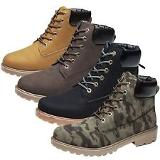 Trainer Booties Round Toe Lace Up Work Casual Chunky Climbing Boots UK 6-12