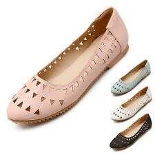 Pumps Casual Boat Shoes Rounded Toe Aides Summer Ballet Flats UK 0.5-11