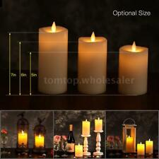 Attractive Electric Flameless LED Candle Light Flickering Flame Lamp Timer Z6L5