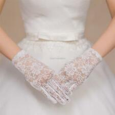Women Wedding Party Evening Lace Floral Gloves Bridal Gloves Sunscreen SH