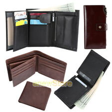 YOOMALL Mens Male Leather Wallet Money Clip Bifold Trifold Front Pocket Wallets