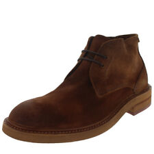 Mens H By Hudson Corelli Chukka Office Brown Suede Smart Ankle Boots US 7-13