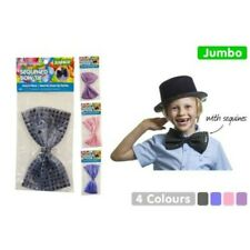 1pce Jumbo Sequined Bow Tie - 10x18cm Kids or Adults Parties and Fancy Dress