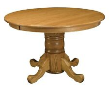 """Amish Traditional Round Pedestal Dining Table Conference 60"""", 72"""" Solid Wood"""