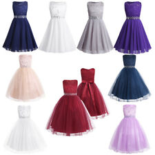 Baby Flower Girl Birthday Party Wedding Bridesmaid Kid Gown Pageant Formal Dress