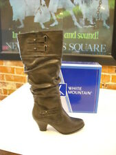 White Mountain Pasttime Gray Slouchy Buckle Boots New