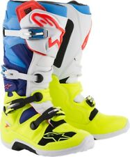 Alpinestars Tech 7 Mens MX Offroad Boots Flo Yellow/White/Blue