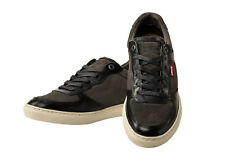 Levis Men Sneakers Perris Oxford, Low Shoes Leather - Dull Grey