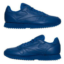 REEBOK CLASSIC LEATHER MONO RIPPLE CASUAL MEN's LEATHER BLUE AUTHENTIC NEW US SZ