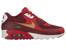 NEW MENS NIKE AIR MAX 90 RUNNING SHOES TRAINERS GAME RED / ELEMENTAL GOLD / TEAM