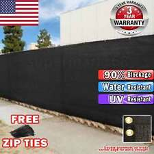Black 4' 5' 6' 8' 50' tall Fence Windscreen Privacy Screen Shade Cover Garden