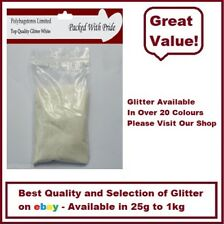WHITE GLITTER - BULK PACKS - NAIL ART - WINE GLASS - ARTS & CRAFTS 100g - 1Kg