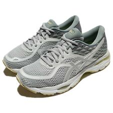 Asics Gel-Cumulus 19 Glacier Grey Silver Lime Women Road Running Shoe T7B8N-9693