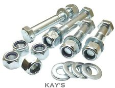 M8 PART THREADED BOLTS + NYLOC NUTS + WASHERS HIGH TENSILE 8.8 ZINC PLATED HEX