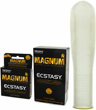 Trojan Magnum Ecstasy Large Lubricated Latex Condoms - Choose Quantity
