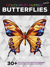 Colour-By-Number Butterflies 30+ Fun and Relaxing Colouring Book