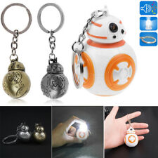 Light Up LED Star Wars Force Awakens BB8 Robot With Sound Keyring Keychain Gift