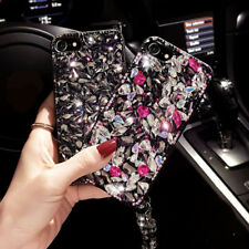 Lady Jewelled Rhinestone Crystal Hard Back Bling Case Cover For iPhone X 8 Plus