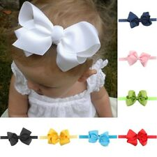 Cute Infant Baby Girls Hair Band Headwear Bowknot Bow Headband Accessories US