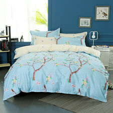 100%Cotton Quilt Covers Doona Duvet Cover Bed Floral Single Queen King Size Bed
