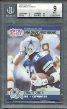 1990 pro set #685 EMMITT SMITH dallas cowboys rookie card BGS 9 (9 8.5 9 9.5)