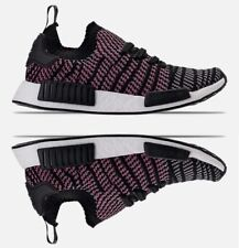 ADIDAS NMD RUNNER R1 STLT PK MESH CASUAL MEN's CORE BLACK - GREY - SOFT PINK NEW