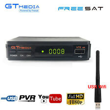 FTA 1080P Digital DVB-S2 Satellite Receiver HD Decoder TV Tuner CS Wifi Antenna