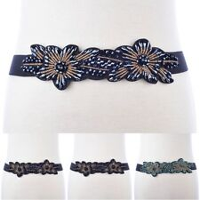 Elastic Belt Corset Waistband Buckle Wide Stretch Womens Waist Dress Belt O0141