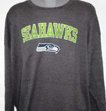 NEW Mens MAJESTIC Seattle Seahawks Grey Long Sleeve Big & Tall NFL Thermal Shirt