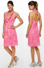 $178 Lilly Pulitzer Ramona Hotty Pink Burnout Floral Halter Dress