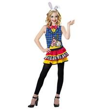 NEW GIRLS TOTALLY GHOUL WHITE RABBIT COSTUME HALLOWEEN DRESS UP SIZE L 10-12