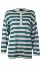 Sutton Studio Womens Oversized 100% Cashmere Henley Tunic Sweater Misses