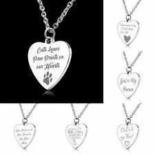Fashion Stainless Steel Love Heart Lettering Feather Pendant Necklace Jewelry