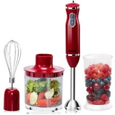 4-in-1 Immersion Hand Blender Set w/ Food Chopper and Beaker For Smoothies Soups