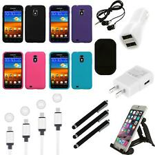 For Samsung Epic Touch 4G D710 Silicone Skin Rubber Soft Case Cover Charger