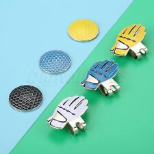 Glove Design Alloy Hat Clip With Magnetic Golf Ball Marker Blue/White/Yellow