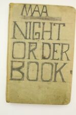 MAA Master at Arms Night Order Book 1956-1957 USS Missouri ? USN US Navy Vtg