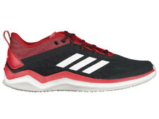 NEW MENS ADIDAS SPEED TRAINER 4 RUNNING SHOES TRAINERS BLACK / RED