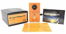 MXR Custom Shop Script Logo Phase 90 LED Guitar Effects Pedal w/Original Box