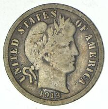 1913 Barber Liberty 90% Silver United States Dime *167