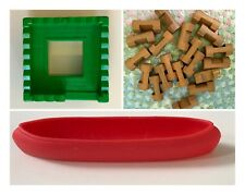 """CHOOSE Lincoln Logs 20 1"""" Pieces Frontier Fort Green Roof Red Canoe Replacement"""