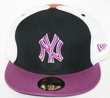 NEW New York NY YANKEES NEW ERA Purple 59FIFTY MLB Baseball Fitted Hat Cap