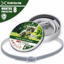 Dewel Protection Flea & Tick Collar for Small Dogs & Cats Up to 18lbs