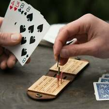 Travel Cribbage Board - Leather Cribbage Board - Handcrafted and American Made