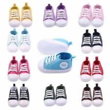 Baby Toddler Canvas Sneakers Baby Boy Girl Soft Sole Crib Shoes First Walkers