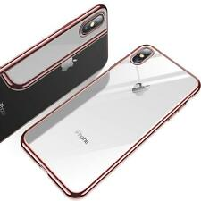 Luxury Shcokproof For iPhone 7 8 Plus Case Clear Slim Soft Hybrid Plating Cover