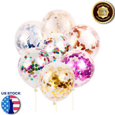 """12"""" Confetti Latex Balloons Paillette Ballons Birthday Wedding Party Decor Gifts"""