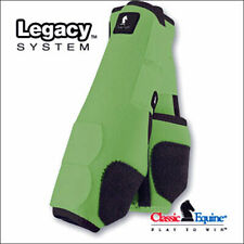 U-CLASSIC EQUINE LEGACY SYSTEM HORSE HIND LEG SPORT BOOT PAIR LIME GREEN