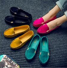 Womens Loafers Moccasin Suede Ballet Slip On Flats  Fashion Casual Summer Shoes