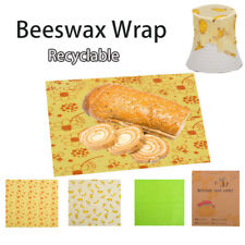 Reusable Beeswax Wraps Food Pack Storage Eco-friendly Plastic Cloth Sustainable